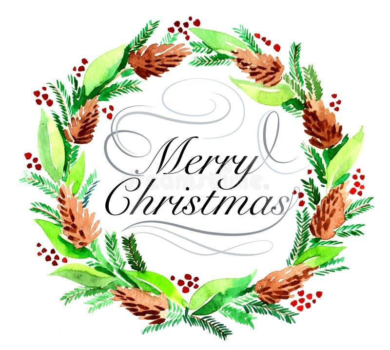 Christmas wreath royalty free illustration