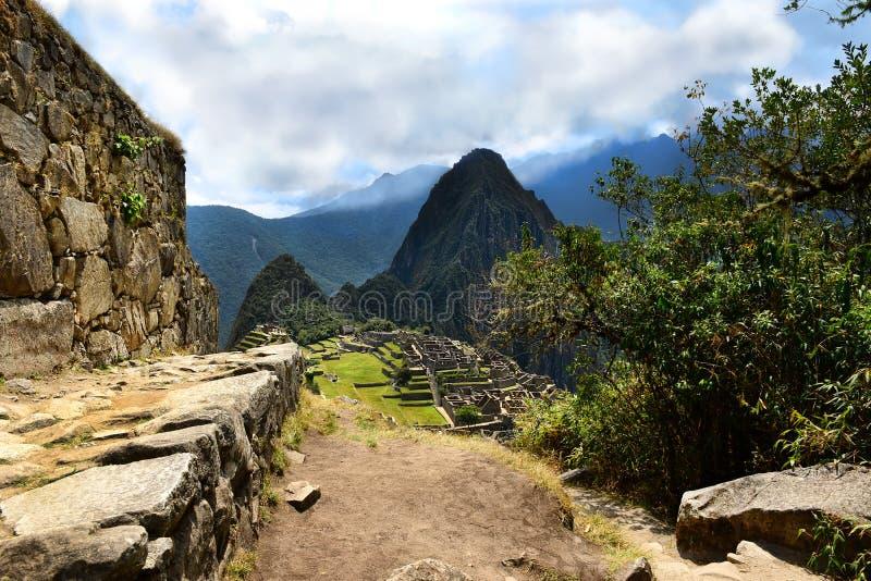 Inka ślad prowadzi Mach Picchu zdjęcia stock