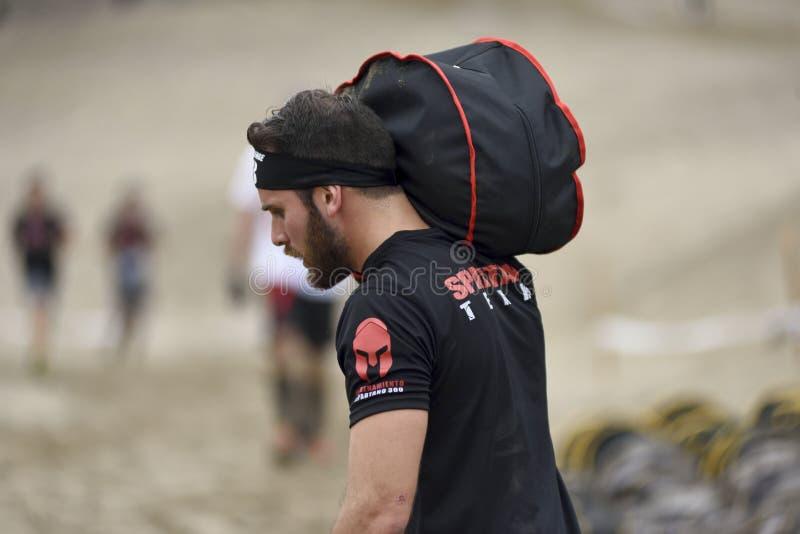Inka Challenge, um obstáculo extremo reawakened em uma praia ao sul de Lima imagens de stock royalty free