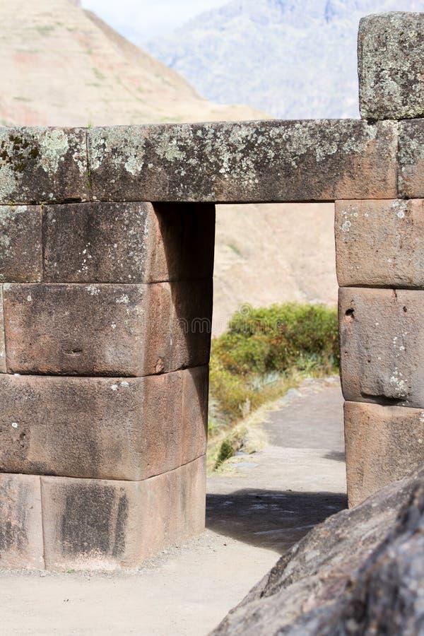 Inka drzwi w Pisac zdjęcie stock