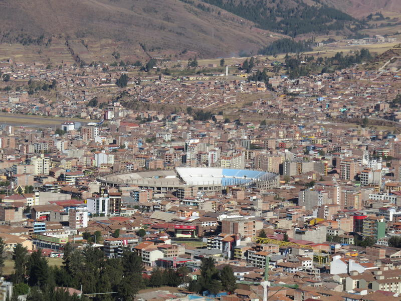 Inka Garcilaso De Los angeles Vega Stadium Cusco Peru zdjęcie stock