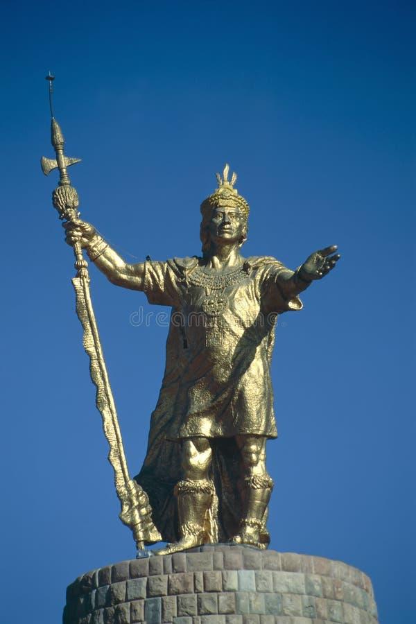 Inka-König Atahualpa stockfotos