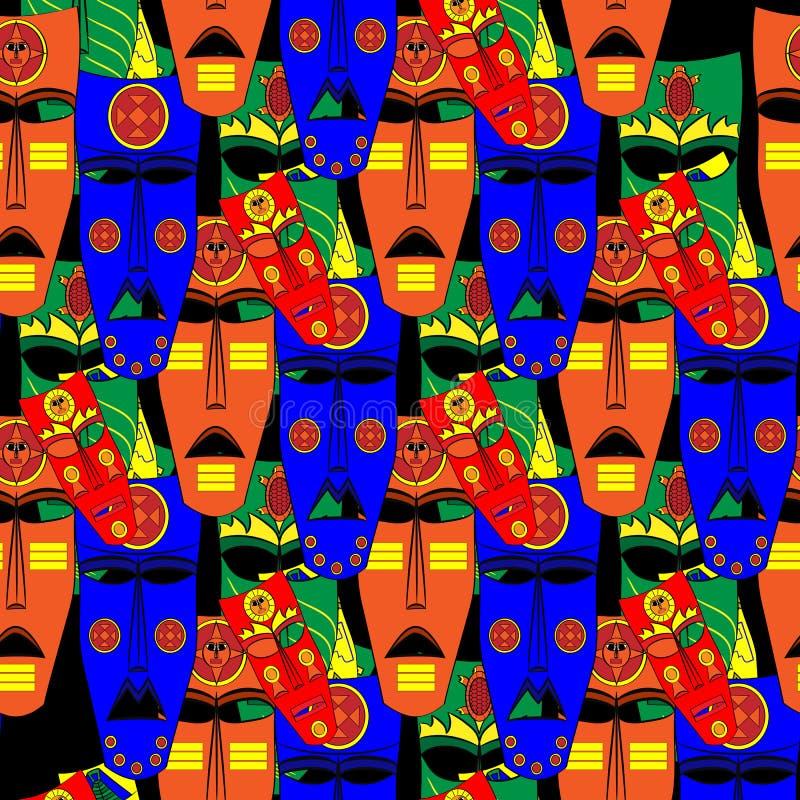 Inka maski Bezszwowy tło wzór również zwrócić corel ilustracji wektora royalty ilustracja