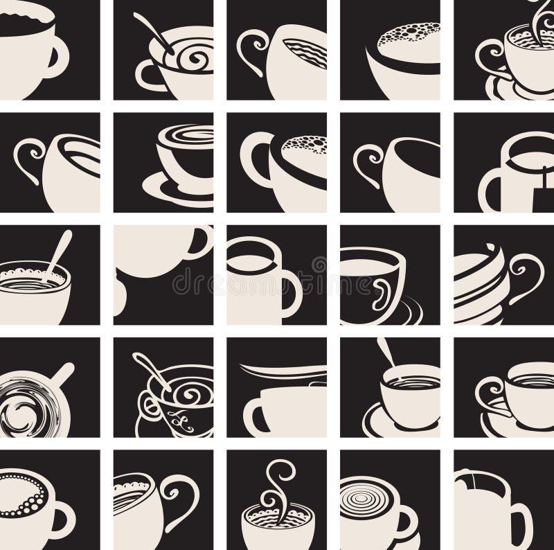 Inkasowa kawa i Herbaciana filiżanka ilustracja wektor