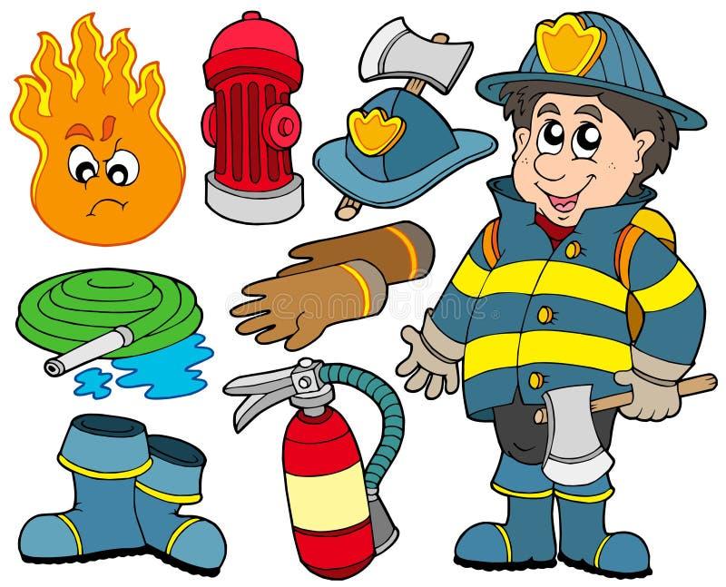 inkasowa pożarnicza ochrona royalty ilustracja