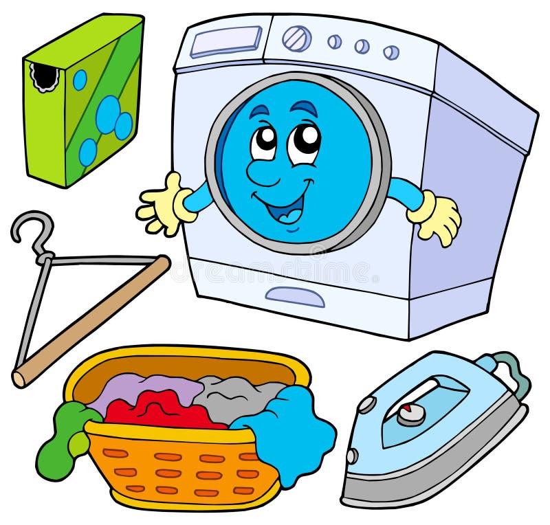 inkasowa pralnia royalty ilustracja