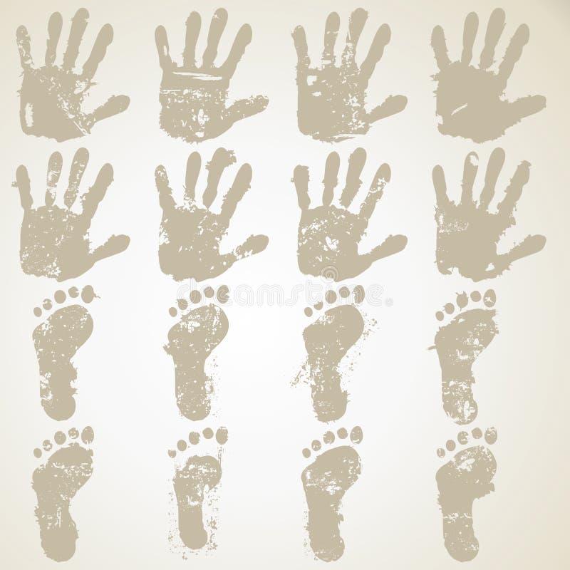 Inkasowa ręka i cieki ilustracji
