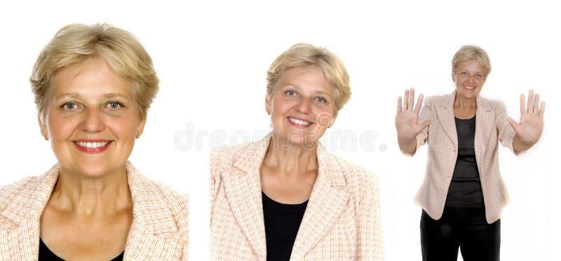 inkasowa starsza kobieta obraz stock