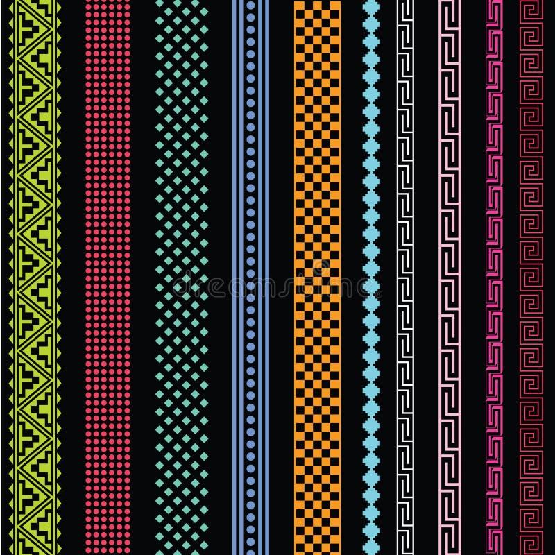 Inkasowe ornamentacyjne linie ilustracji