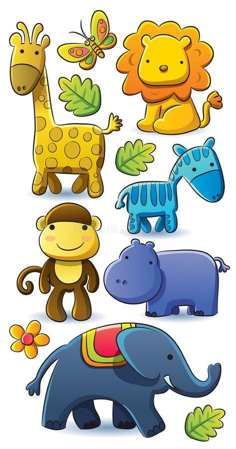 Inkasowi śliczni Zwierzęta ilustracja wektor