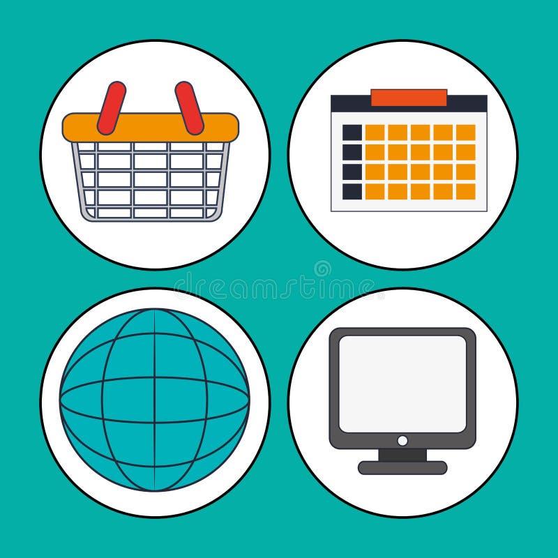Inkasowi cyfrowi marketing pracy środki ilustracja wektor
