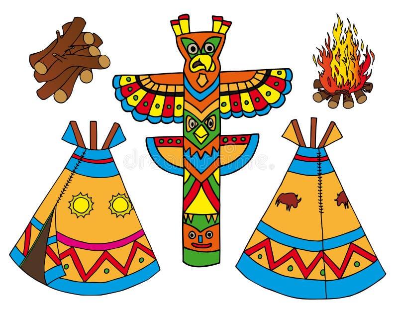 Inkasowi indianów tepees ilustracji