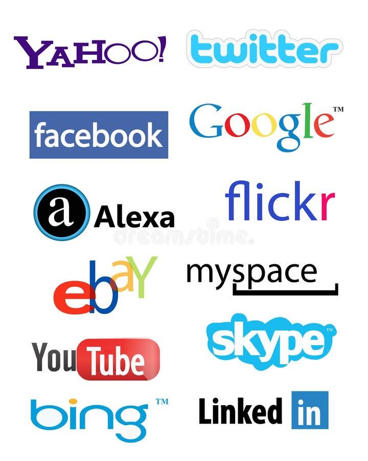 Ogólnospołeczni sieć logowie royalty ilustracja