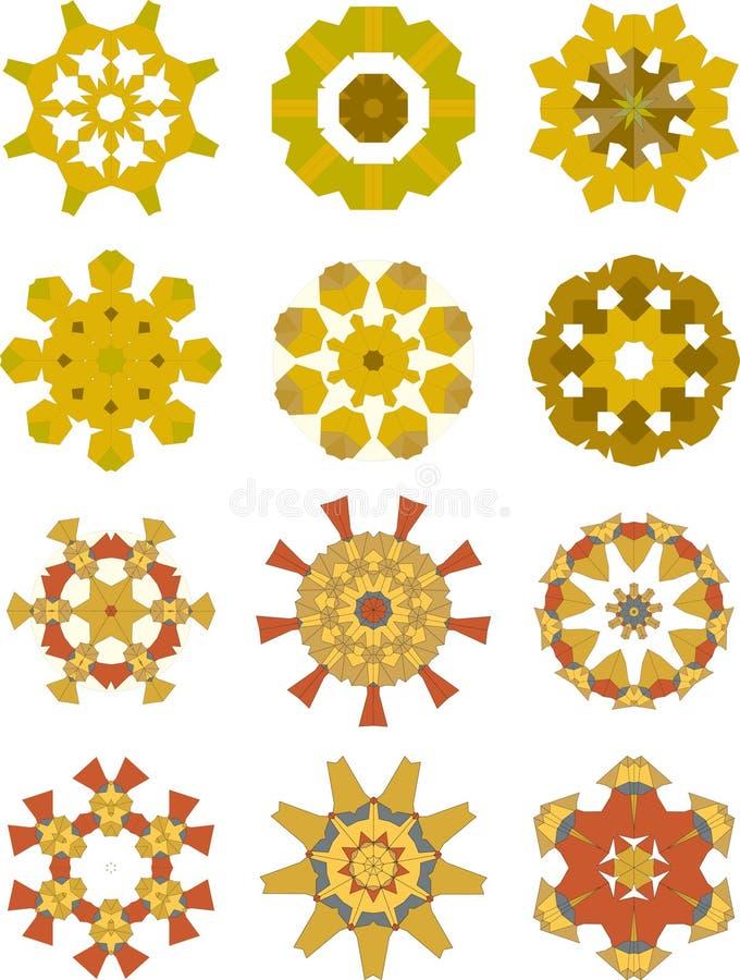 inkasowi wakacyjni ornamenty zdjęcie stock