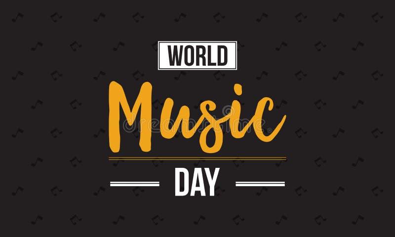 Inkasowy światowy muzyczny dnia świętowania styl royalty ilustracja