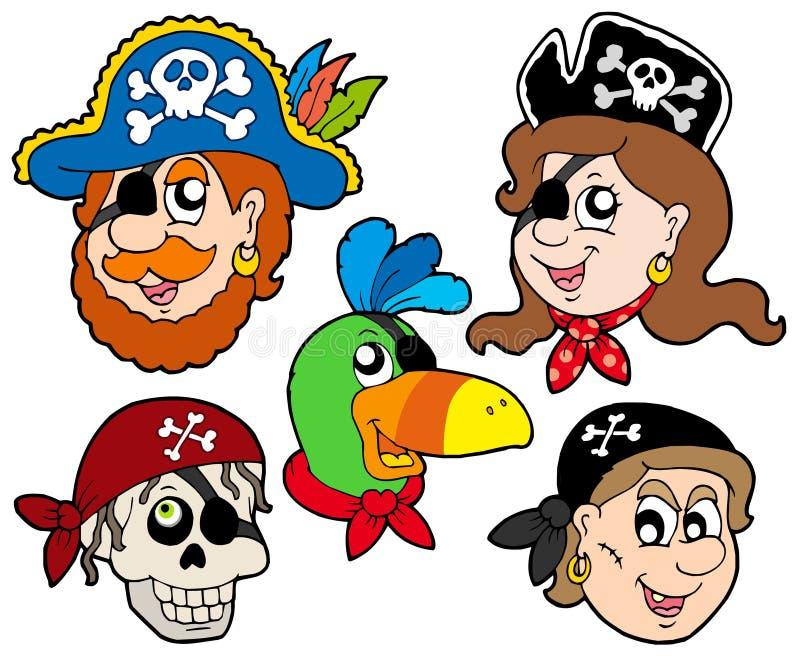 inkasowy charakteru pirat royalty ilustracja
