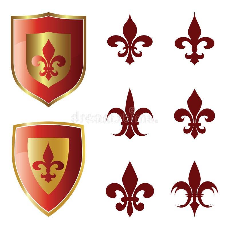 inkasowy De Fleur Lis royalty ilustracja