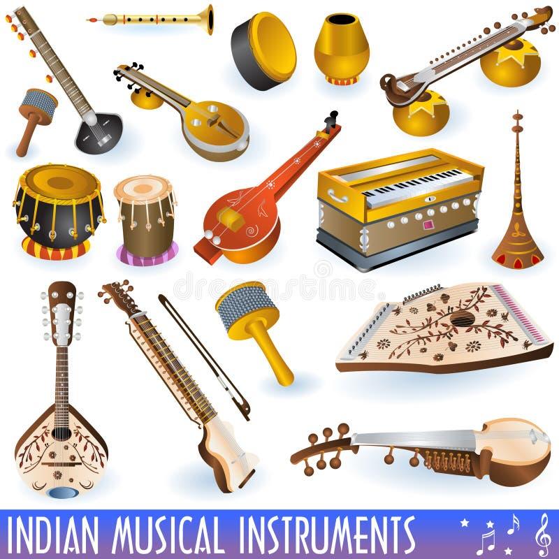 inkasowy indyjski musical royalty ilustracja