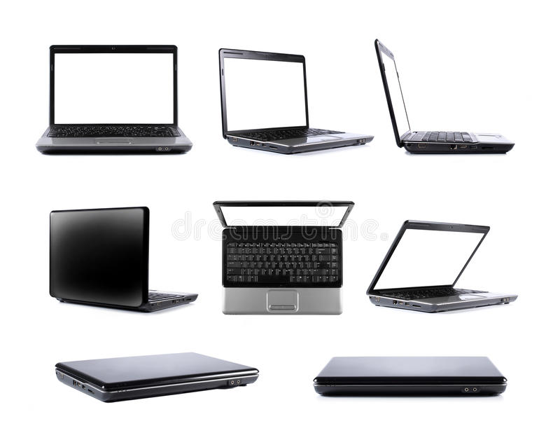 inkasowy laptop obraz royalty free