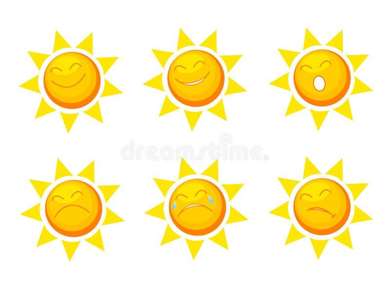inkasowy słońce ilustracji