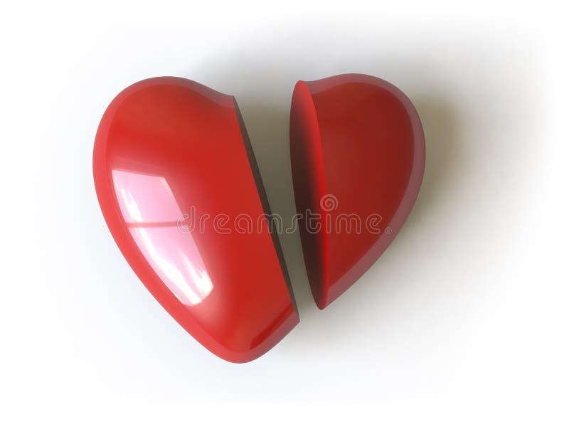 inkasowy serca tutaj pchnięcie ilustracja wektor
