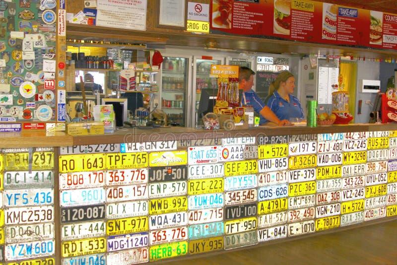 Inkasowy tablicy rejestracyjnej roadhouse Australia zdjęcia stock