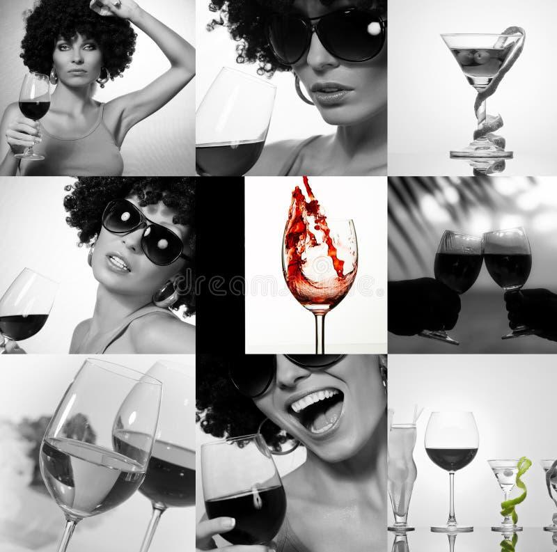 inkasowy wino fotografia stock