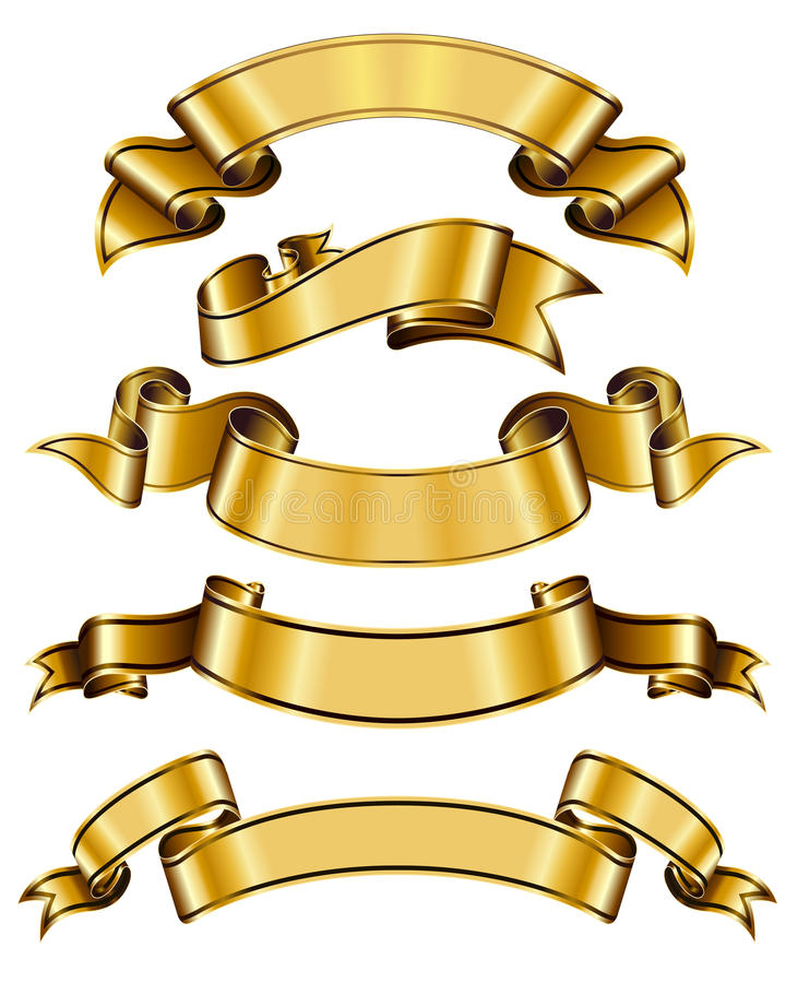 inkasowy złocisty faborek royalty ilustracja