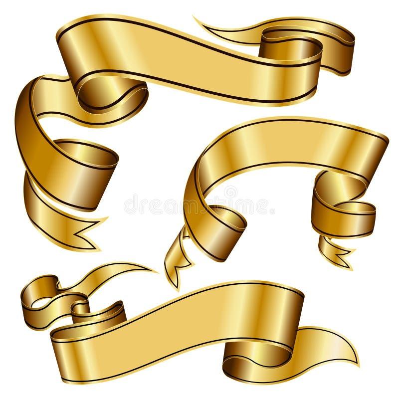 inkasowy złocisty faborek ilustracji