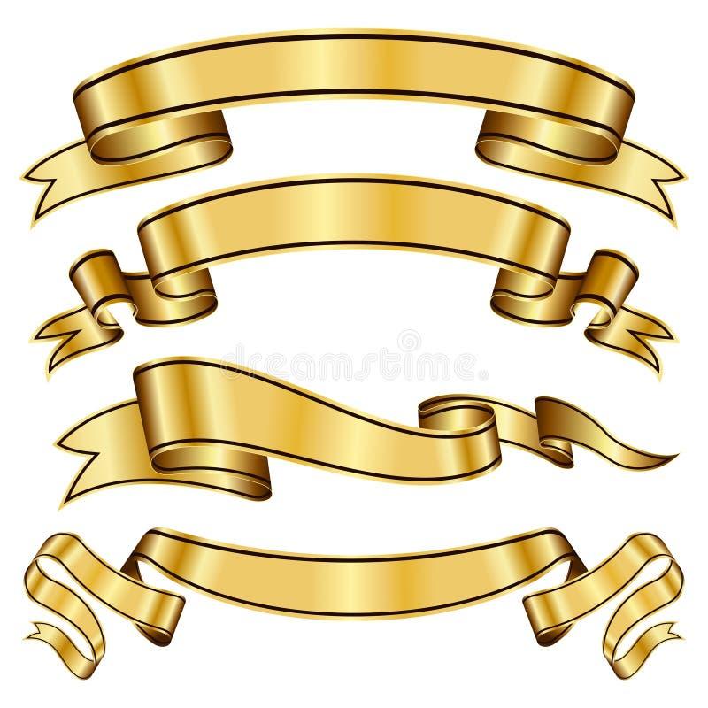 inkasowy złocisty faborek ilustracja wektor