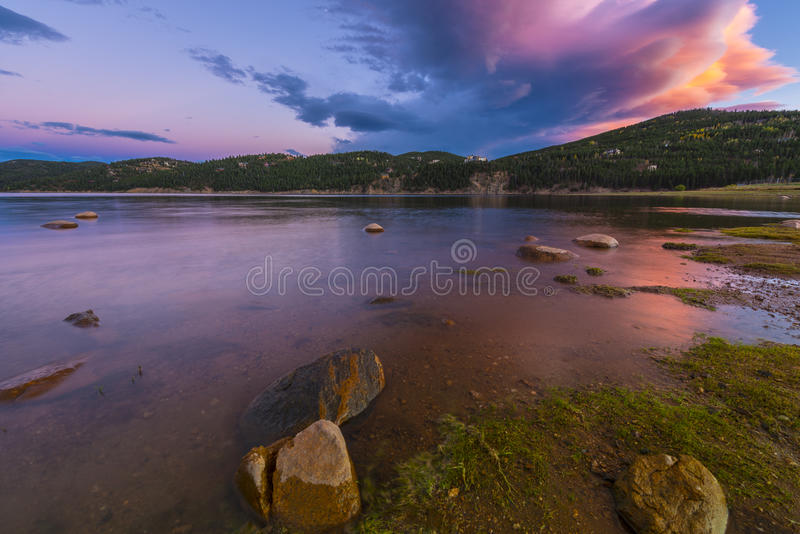 Inkastare Meadow Reservoir royaltyfri bild