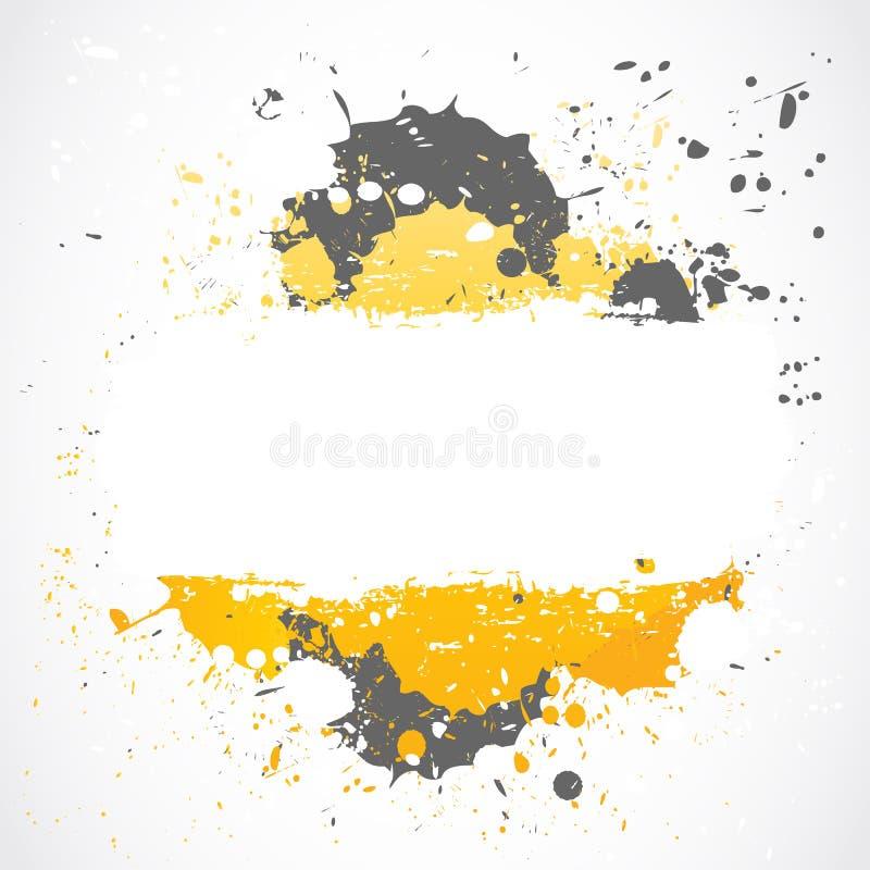 Inkblots van Grunge plonsontwerp vector illustratie