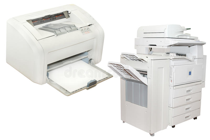 Inkjet printer and Office copying machine stock image