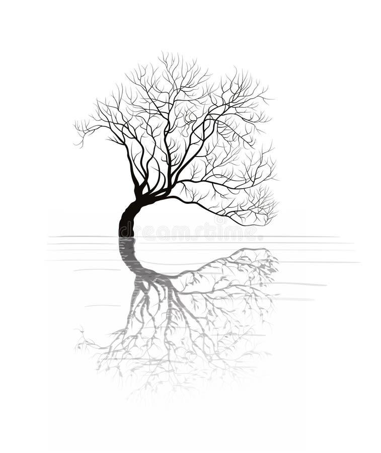 Inklinacyjny drzewo ilustracji