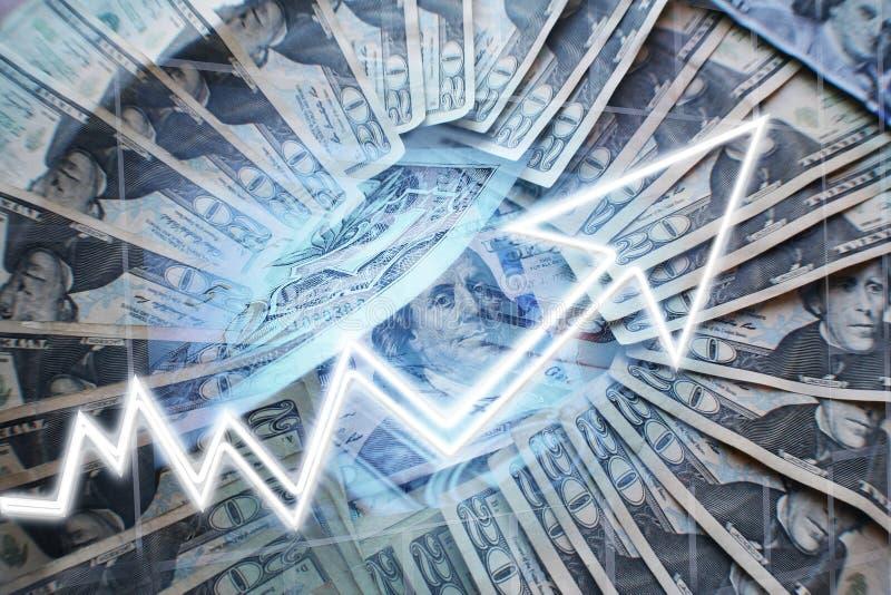 Inkomen die hoog - de Foto van de kwaliteitsvoorraad toenemen stock afbeeldingen