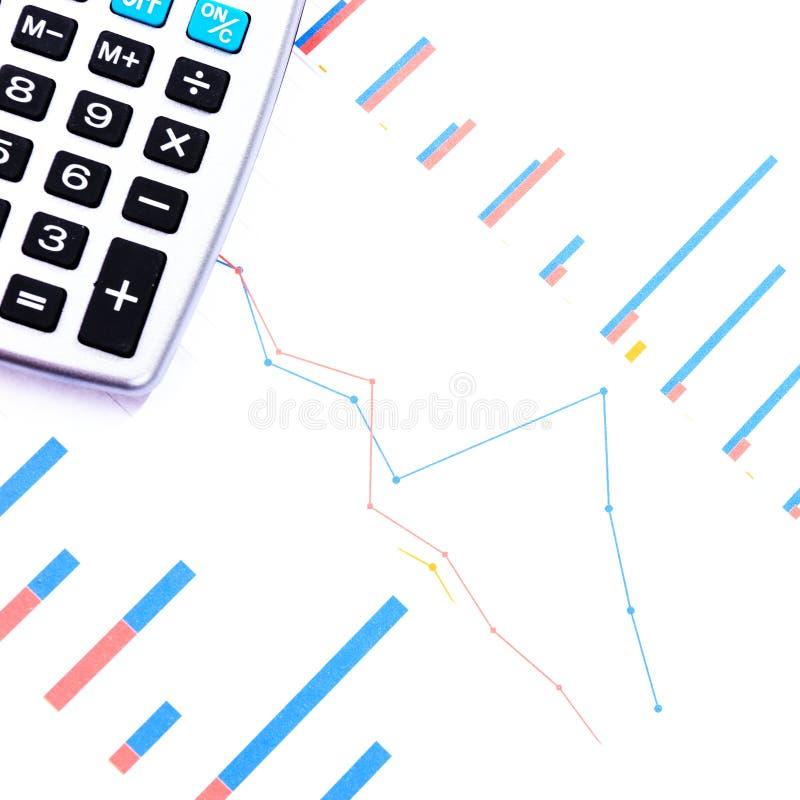 Inkomen, winst, statistieken en prestatiesevaluatie stock foto