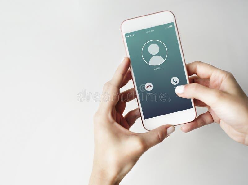 Inkomend Mobiel Vraag Communicatie Concept royalty-vrije stock afbeelding