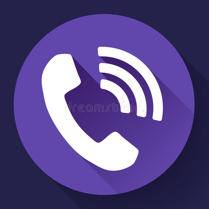 Inkomend Telefoongesprek vectorpictogram royalty-vrije illustratie
