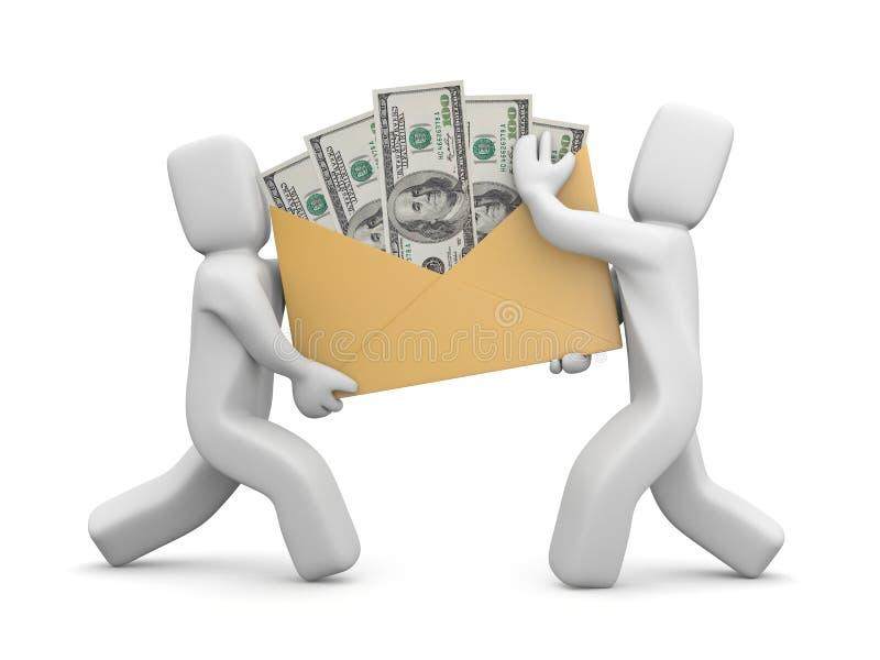 Inkomens of salaris vector illustratie