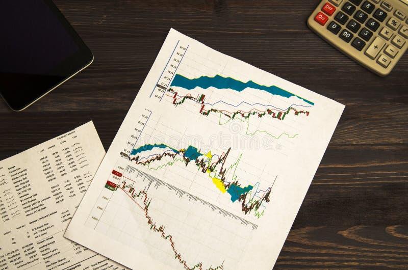 Inkomens van handel op de beurs stock foto's
