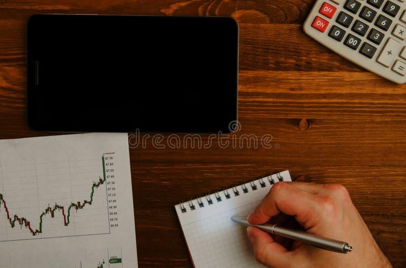 Inkomens van handel op de beurs royalty-vrije stock foto