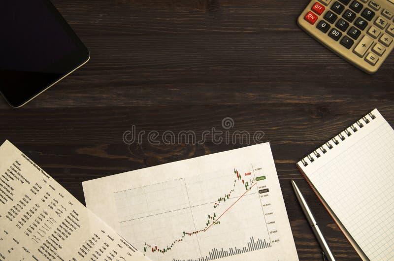 Inkomens van handel op de beurs royalty-vrije stock afbeeldingen