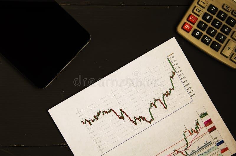 Inkomens van handel op de beurs royalty-vrije stock fotografie