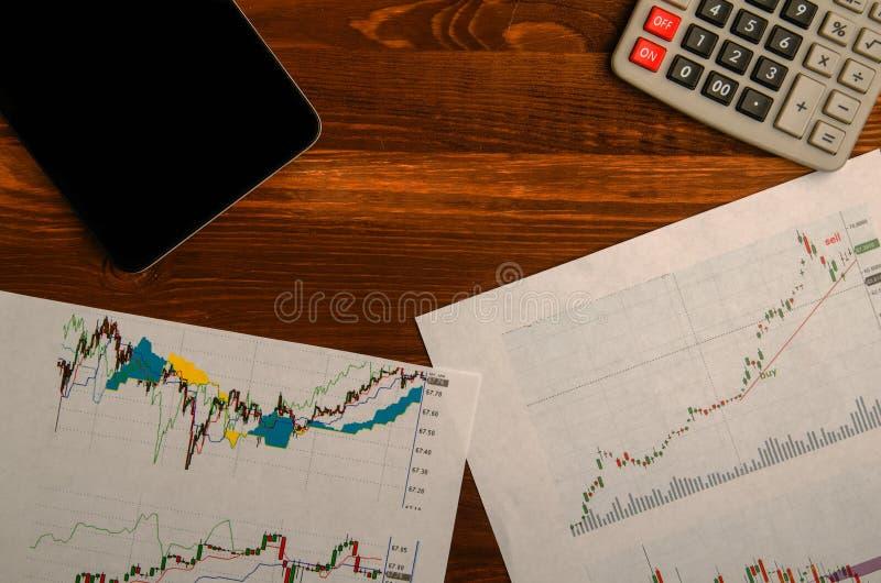 Inkomens van handel op de beurs stock afbeeldingen
