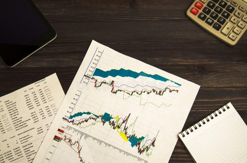 Inkomens van handel op de beurs stock foto