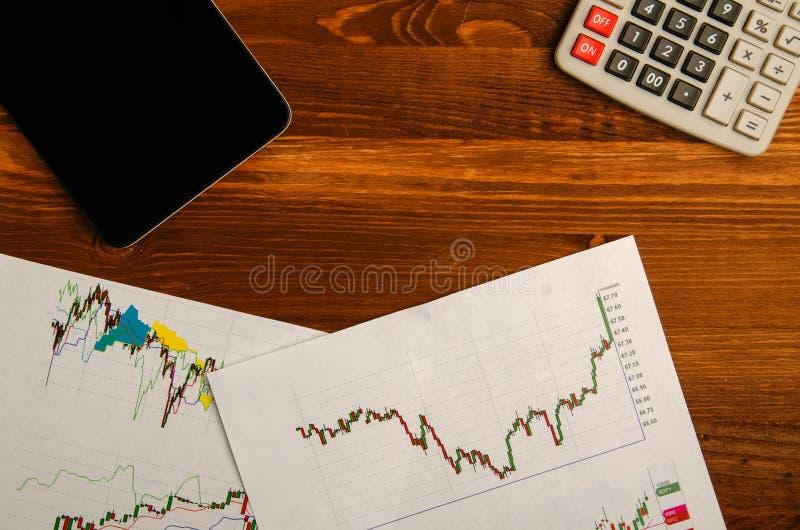 Inkomens van handel op de beurs stock fotografie