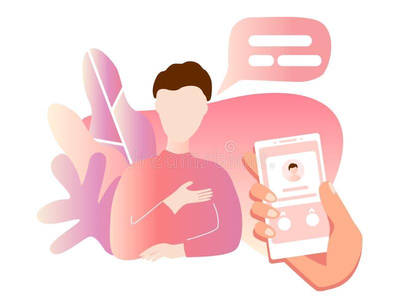 Inkommande appell på smartphoneskärmen Plan designvektorillustration Modernt begrepp för rengöringsdukbaner, webbplatser, infogra vektor illustrationer