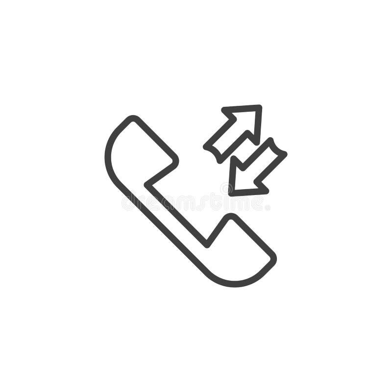 Inkommande och utgående appeller fodrar symbolen stock illustrationer