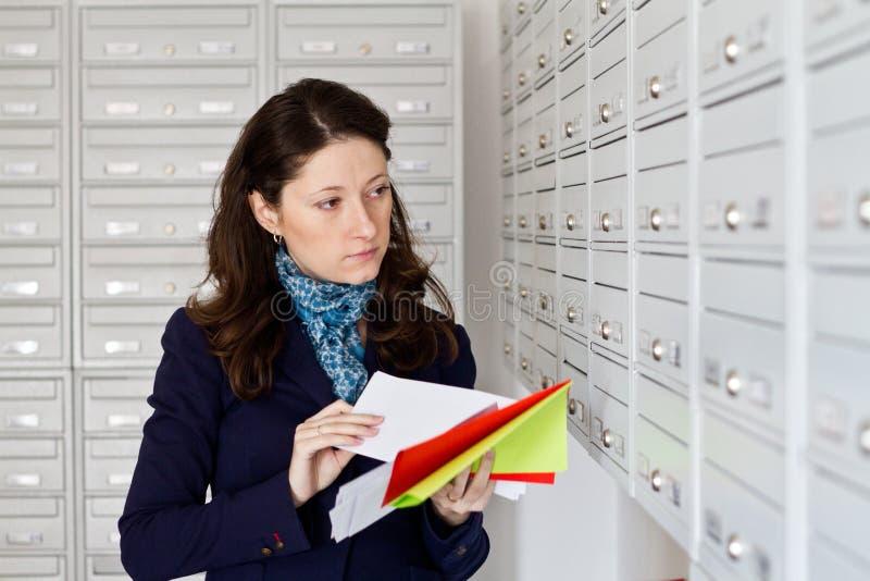 Inkommande post arkivbilder