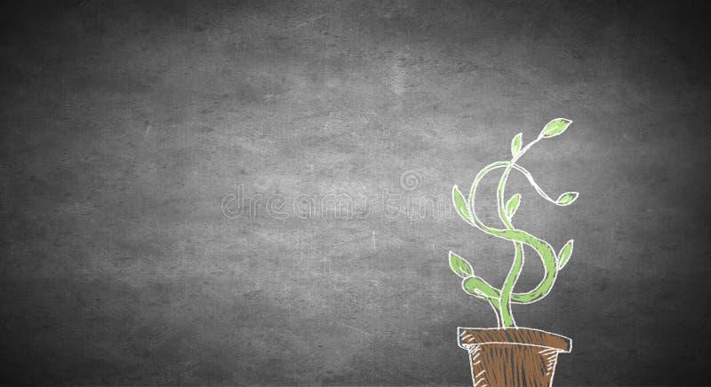 inkomst för tillväxt för pilbegreppsdollaren isolerade spiral buntwhite vektor illustrationer